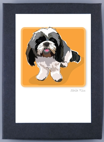 Paper Russells Boxed Note Cards - Shih Tzu