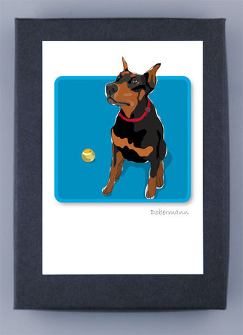 Paper Russells Boxed Note Cards - Doberman