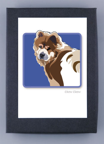 Paper Russells Boxed Note Cards - Chow