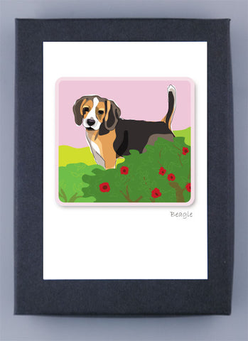 Paper Russells Boxed Note Cards - Beagle