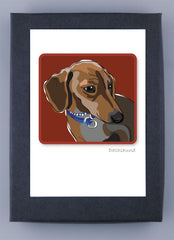 Paper Russells Boxed Note Cards - Dachshund