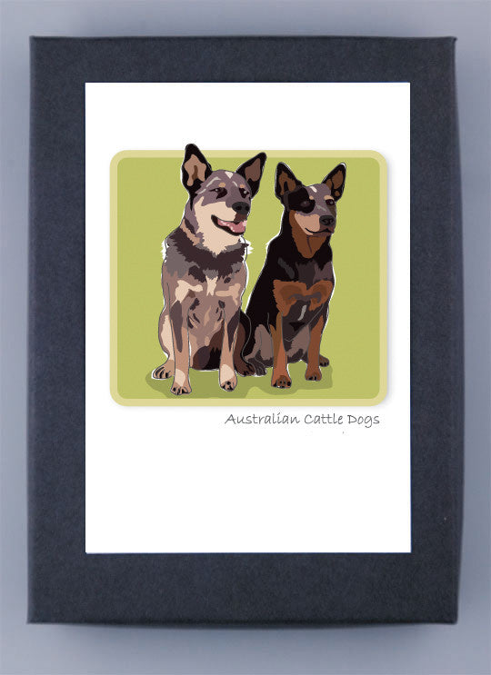 Paper Russells Boxed Note Cards Australian Cattle Dog (Heeler)