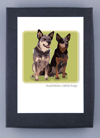 Paper Russells Boxed Note Cards - Australian Cattle Dog