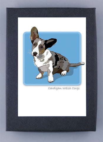 Paper Russells Boxed Note Cards - Cardigan Welsh Corgi