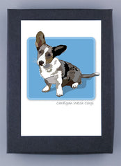 Cardigan Welsh Corgi Blue Merle Boxed Note Cards