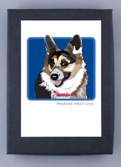 Pembroke Welsh Corgi Tri-Color Adult Boxed Note Cards