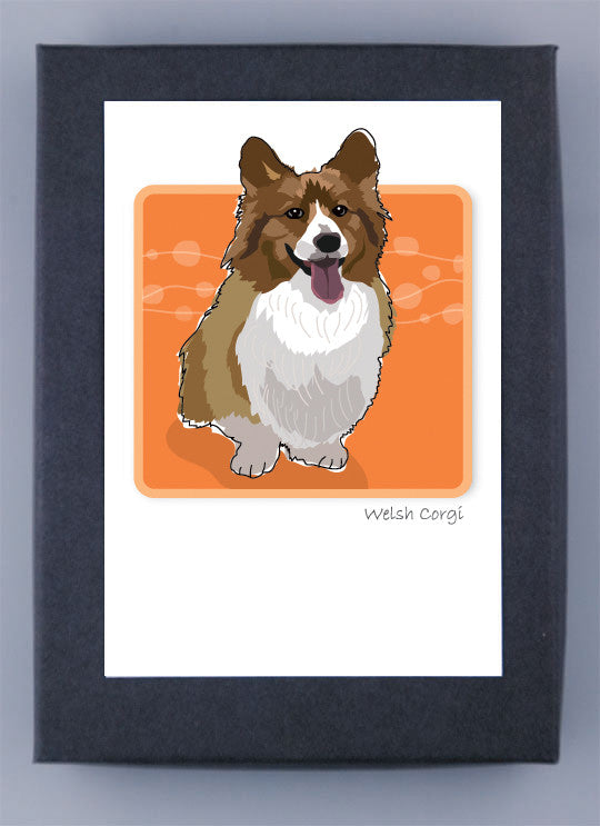 Pembroke Welsh Corgi Fluffy Adult Boxed Note Cards