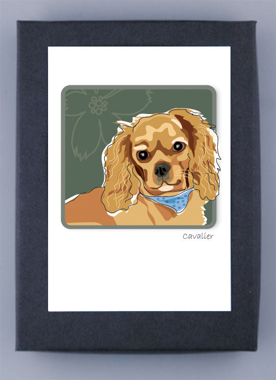 Cavalier King Charles Spaniel Tri-Color Boxed Cards