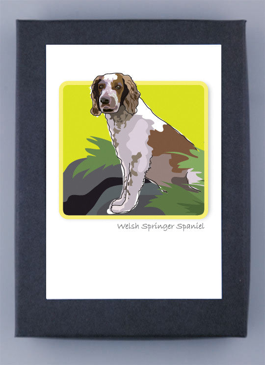Welsh Springer Spaniel Boxed Note Cards