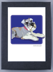 Schnauzer Natural Ears Boxed Cards