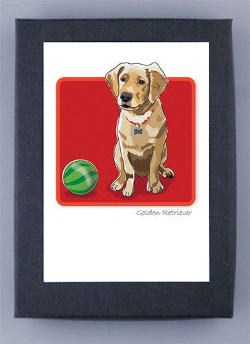 Golden Retriever Puppy Boxed Note Cards