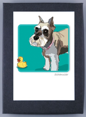 Schnauzer Cropped Ears Boxed Cards