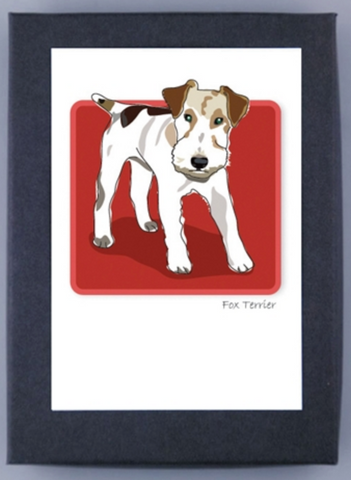 Paper Russells Boxed Note Cards - Fox Terrier