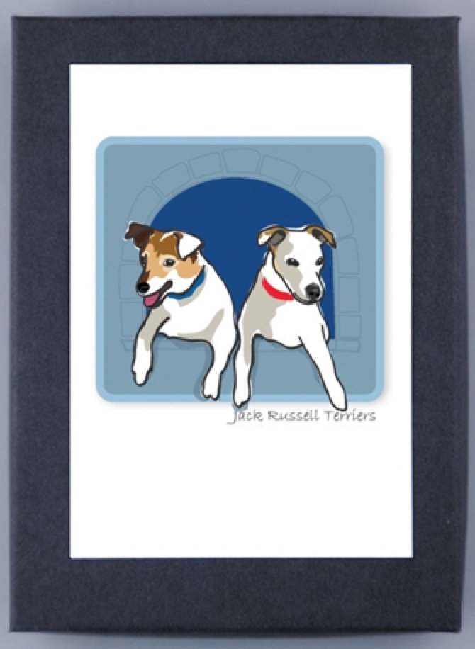 Jack Russell Terrier Tri-Color Boxed Note Cards
