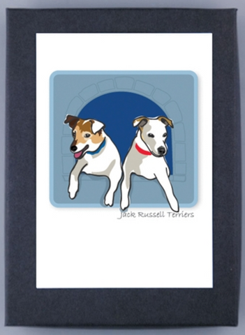 Paper Russells Boxed Note Cards - Jack Russell