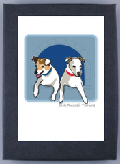 Pair of Jack Russell Terriers Boxed Note Cards