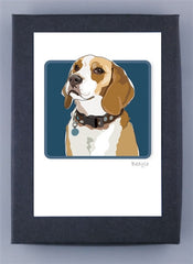Beagle Blond Boxed Note Cards