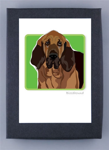 Paper Russells Boxed Note Cards - Bloodhound