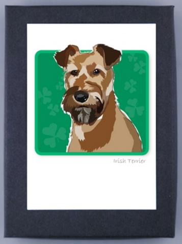 Paper Russells Boxed Note Cards - Irish Terrier