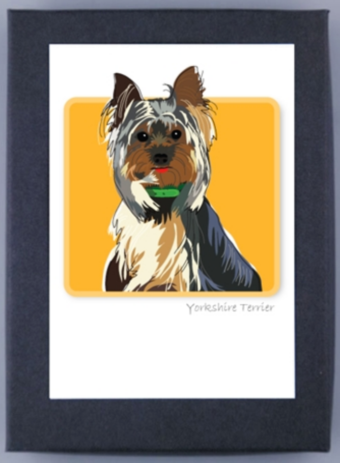 Paper Russells Boxed Note Cards Yorkshire Terrier