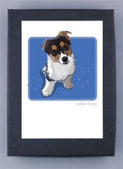 Pembroke Welsh Corgi Tri-Color Puppy Boxed Note Cards