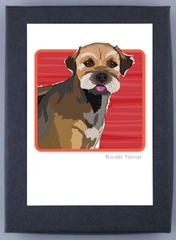Paper Russells Boxed Note Cards - Border Terrier