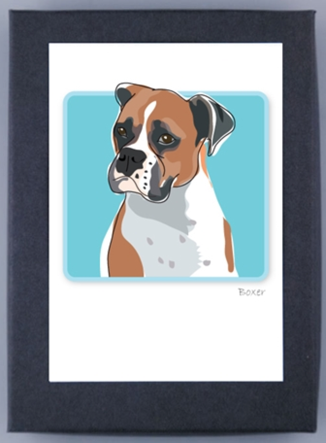 Boxer Fawn Boxed Note Cards