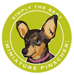 Simply the Best Car Magnet Miniature Pinscher