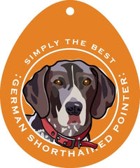 Simply the Best Car Decal Basset Hound