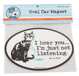 Car Magnet: Not Listening Cat