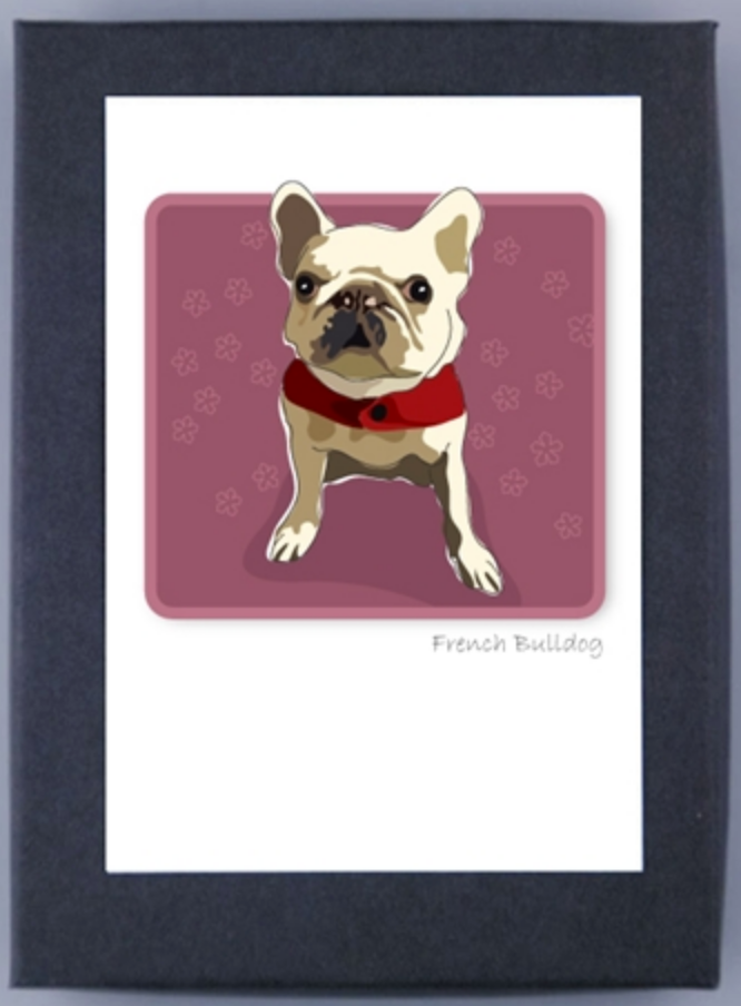 Paper Russells Boxed Note Cards French Bulldog