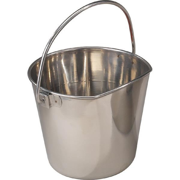 Flat-sided Stainless Steel Bucket Pail