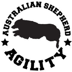 Australian Shepherd Agility Decal