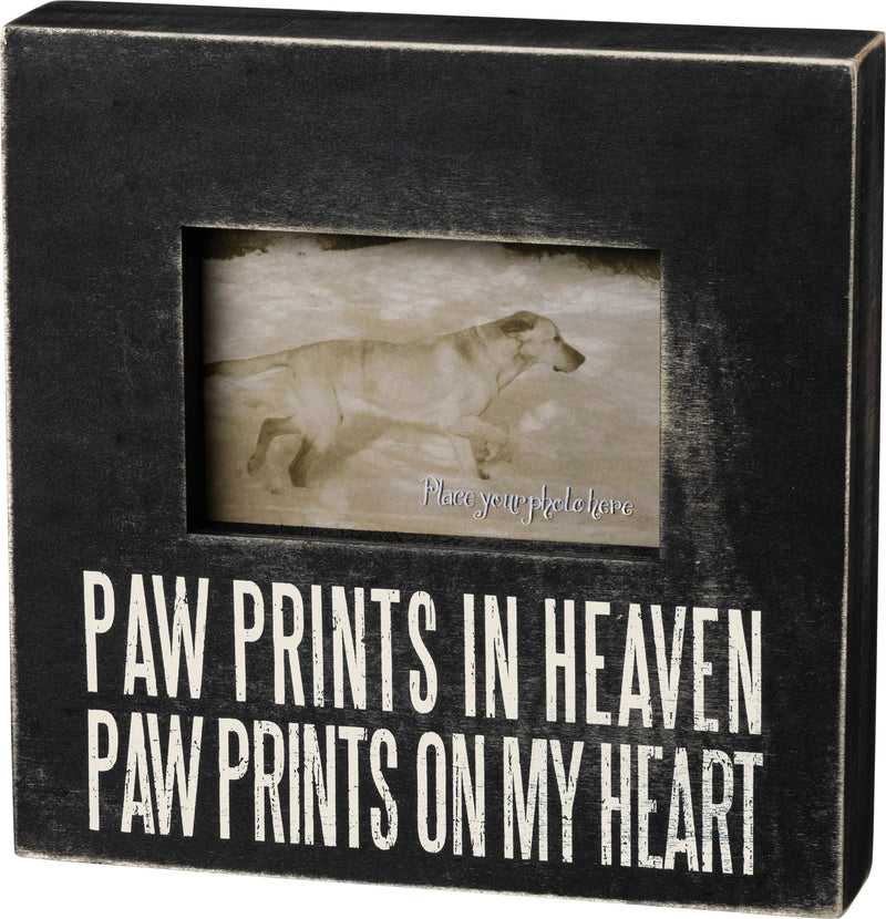 Memorial Plaque Box Frame Paw Prints In Heaven Paw Prints On My Heart