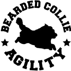Bearded Collie Agility Decal