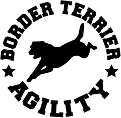 Border Terrier Agility Decal