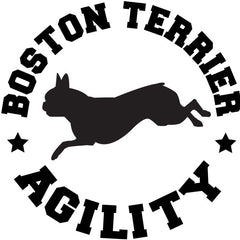 Boston Terrier Agility Decal