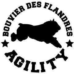 Bouvier des Flandres Agility Decal