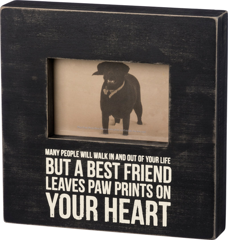 Paw Prints On Your Heart Memorial Box Frame