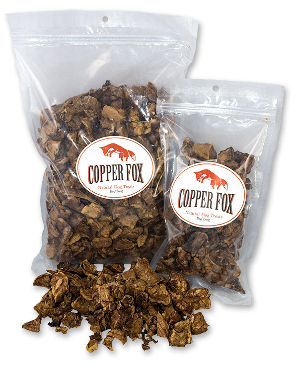 Copper Fox Natural Dog Treats Beef Lung