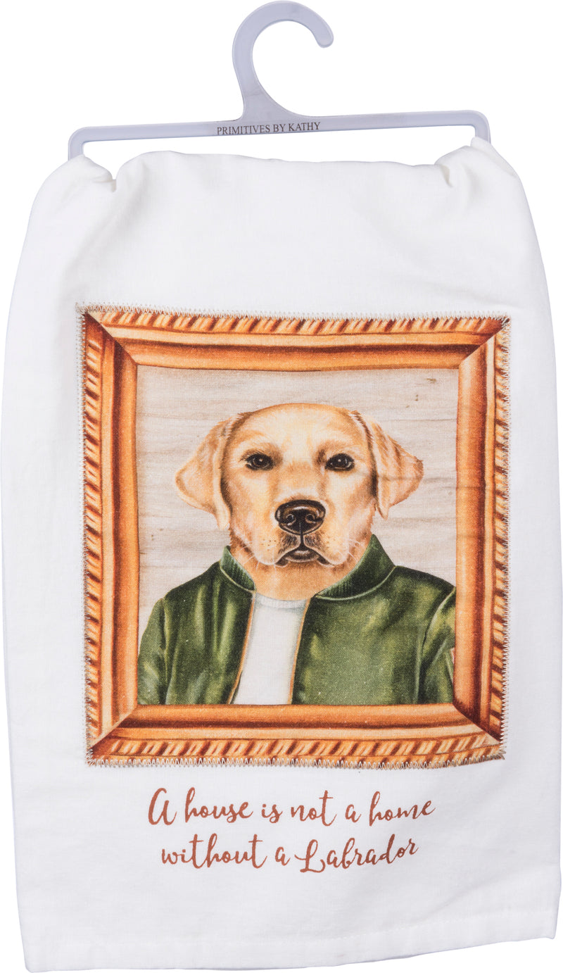 Yellow Labrador Dish Towel