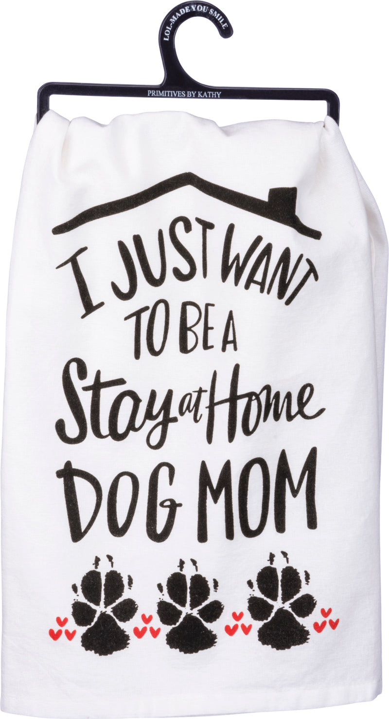 I'm Only Talking to My Dog Today Dish Towel