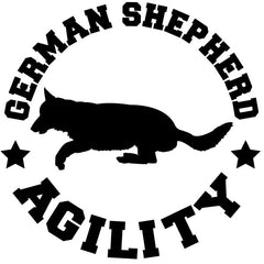 German Shepherd Agility Decal