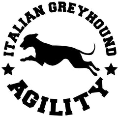 Italian Greyhound Agility Decal
