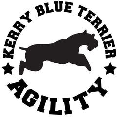 Kerry Blue Terrier Agility Decal