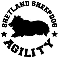 Shetland Sheepdog Agility Decal