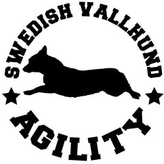 Swedish Vallhund Agility Decal