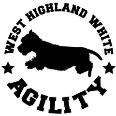 Westie Agility Decal