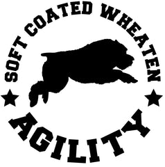 Soft-Coated Wheaten Terrier Agility Decal