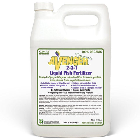 Avenger® | Liquid Fish Fertilizer | Refill Jug | 1 gal.
